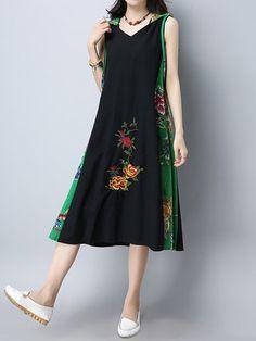 خمر المرأة المرقعة مقنعين أكمام الفساتين