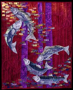 """Modern Art Quilts   image of quilt titled """"To Swim in the Light"""" by Gayle Bryan © 2005 <3<3<3"""
