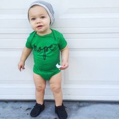 Nope baby bodysuit - Little Beans Clothing. Baby boy clothing, hipster baby, graphic onesie.