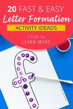 Teach kids correct letter formation with these fun, hands-on activities. Better than a worksheet, use these printable letter cards for engaging alphabet activities. Teach your preschool and pre-k kids how to build uppercase and lowercase letters with proper formation (includes a dot as a visual cue fo the starting point). Find 20 different ideas to use these little letter sheets to teach the basic skills that will help your kids with handwriting letters. Phonemic Awareness Activities, Alphabet Activities, Language Activities, Hands On Activities, Literacy Activities, Pre Writing, Writing Skills, Teaching Letters, Teaching Kids