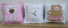 Almofadas lembrancinhas de nascimento