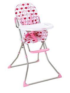 LadybirdSlimline Highchair - Pink Apple and Pears