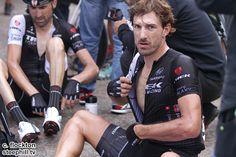 2014 vuelta-a-espana photos stage-16 - Fabian Cancellara, wrecked from the days gruelling climb!
