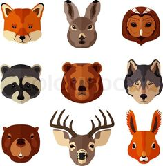 shutterstock animal vector set - Google Search