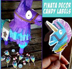 Fortnite Inspired Pinata Printable Decor And Pinata Candy