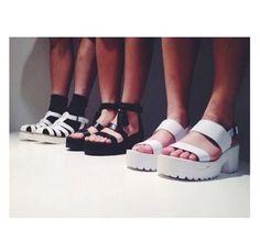 shoes platform shoes grunge soft grunge pale tumblr sandals plateau black weheartit platform plateau shoes white flat sandals