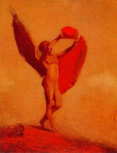 Icarus - Odilon Redon.  Art Experience NYC  www.artexperiencenyc.com/social_login/?utm_source=pinterest_medium=pins_content=pinterest_pins_campaign=pinterest_initial