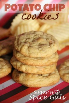Check out this awesome flavor combo of sweet and salty packed into these scrumptious Potato Chip Cookies on MyRecipeMagic.com #bestcookierecipes #sweetandsalty #potatochipcookies