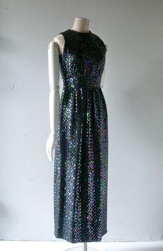 60s Victor Costa sequin gown
