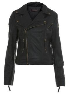 Seam Detail Biker Jacket - Miss Selfridge