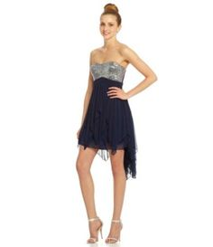 Sequin Hearts Strapless Sequin Dress | Dillards.com