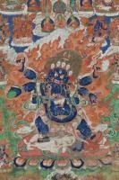 Thangka depicting Mahakala Tibet ,19th Century