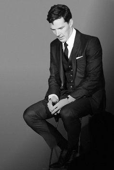 Benedict Cumberbatch. Gawd, I wish all men dressed this well.