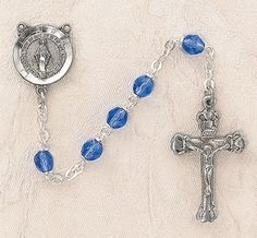 $28.74 + $9.25 shipping  - Heritage Italian Catholic Sapphire (September) Czech Birthstone Rosary Silver Oxidized 5mm Crystal Bead 1¼ Crucifix by Creed Jewelry, http://www.amazon.com/dp/B00CR6GDBK/ref=cm_sw_r_pi_dp_MWmKrb0N9JW2F