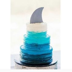 At Party Ears we're doing a countdown to Shark Week (which starts officially on July Get ready for fin-tastic out of this ocean party planning tips and tricks! Shark Birthday Cakes, 6th Birthday Parties, Shark Birthday Ideas, Boys Birthday Cakes Easy, Cute Birthday Cakes, Kid Parties, Shark Cake, Shark Cupcakes, Ocean Party