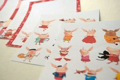 Olivia the Pig Stickers and Stationary by inspirednest.ca