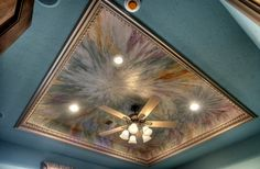 Inset Ceiling with various brushed Modern Masters Metallic Paints | Trim: Champagne Metallic Paint | Project by Decorative & Faux Finishes | Design by Sherry Renfrow Moore