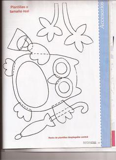 coruja cute Owl Templates, Quilting Templates, Applique Templates, Applique Patterns, Quilt Patterns, Sewing Patterns, Felt Crafts Patterns, Owl Patterns, Owl Applique