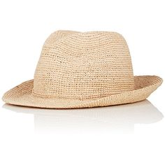 Kaminsky XY Men's Abaka Raffia Fedora ($295) ❤ liked on Polyvore featuring men's fashion, men's accessories, men's hats, nude, crochet mens hat, mens fedora hats, mens hats fedora, mens raffia hat and mens wide brim fedora