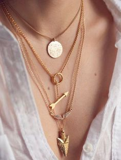 Women Multilayer Irregular Crystal Gold Pendant Chain Statement Necklace
