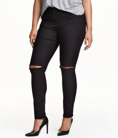 5-pocket pants in stretch twill with a regular waist and slim legs.