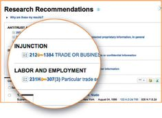 Research enhancements to Westlaw