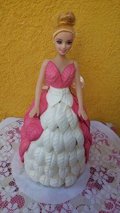 Barbie Fashionista, Little Princess, Disney Princess, Foam Crafts, Barbie Dress, Biscuit, Knitting, Crochet, Party