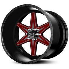 American Force EVADE FP6 Wheels Black Flat-Solid