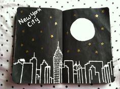 New York City journal art Journal D'art, Wreck This Journal, Creative Journal, Art Journal Pages, Journal Ideas, Create This Book, Memory Books, Bullet Journal Inspiration, Smash Book