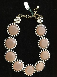 Peach and Gold Cluster Faux Stone Necklace