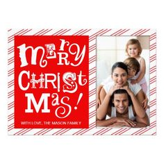 311 Funky Merry Christmas Red Stripes Card #holidays #greetings  #Christmas   Click on photo to purchase. Check out all current coupon offers and save! http://www.zazzle.com/coupons?rf=238785193994622463&tc=pin #cards #holidays #christmas  #christmascards #photos #photocards #believe #greetings #holidaycards  #xmas #xmascards #greetingcards #personalized #customized
