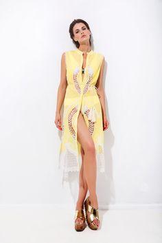 Πουκαμίσα μακρυά με κιπούρ σχέδια Ss16, High Low, Dresses, Fashion, Vestidos, Moda, Fashion Styles, Dress, Fashion Illustrations
