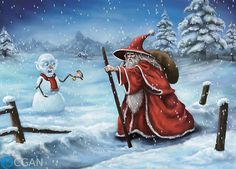 Gandalf+The+Red+and+Snow+Gollum