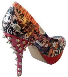 Sons Of Anarchy High Heels Shoes by MadHatterDesigns87 on Etsy, $104.99