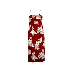 Chili Red Long Hawaiian Skinny Strap Floral Dress   #hawaiiandresses #hawaiiandress #hawaiianweddingdress #sexyhawaiiandresses #floraldress #maxidress #sundress