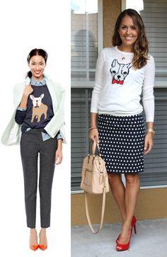 Todays Everyday Fashion: Polka Dot Skirt - Js Everyday Fashion