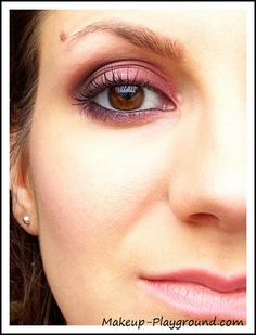 Burgundy/maroon make-up, for green and brown eyes