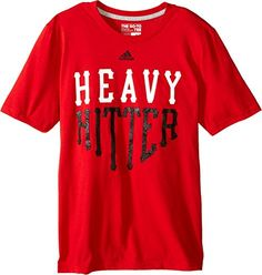 adidas Kids Boys Heavy Hitter Tee Big Kids ScarletBlack Shirt ** You can find out more details at the link of the image.Note:It is affiliate link to Amazon.