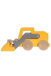 Loader Push Toy made with 100% post industrial recycled wood made in the usa by Manny & Simon