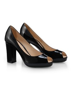 #HOGAN Women's Spring - Summer 2013 #collection: patent leather peep-toe #pumps H204.