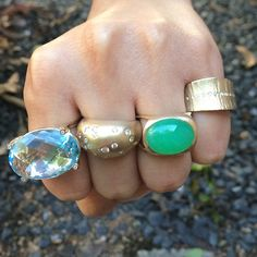Shaesby - A handful of some of our favorite cocktail rings!
