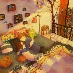 Puuung – Love is: So sieht Liebe aus - Art - bento Illustration Photo, Couple Illustration, Illustrations, Love Is Sweet, What Is Love, Cute Love, Calin Couple, Puuung Love Is, Sketch Manga