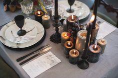 The Dark Romantic- glam gothic wedding style. Perfect theme for an Autumn/Winter wedding.