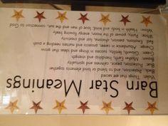 Barn star meanings