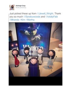 Ashleigh Gray Tweeting her love  for some of her dolls - this time we created them for fan Sarah Woods who wanted many of Ashleighs roles created as dolls