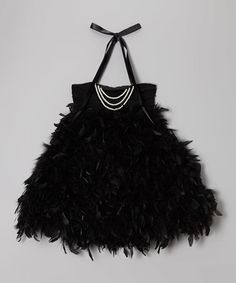 Another great find on Bébé Oh La La Black Onyx Feather Pearl Halter Dress - Toddler & Girls by Bébé Oh La La Toddler Girl Dresses, Girls Dresses, Toddler Girls, Infant Toddler, Tutu Dresses, Pageant Wear, Pearl Dress, Baby Couture, Little Fashionista