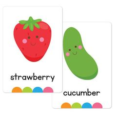Fruit & Vegetable Flash Cards – Busy Little Bugs Learning Tools, Early Learning, Kids Learning, Health Unit, Fruits For Kids, Learn English, English Class, Early Literacy, Learning Through Play