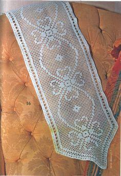 "Photo from album ""Журнал ""Валя-Валентина"" on Crochet Frog, Filet Crochet, Cute Crochet, Crochet Tablecloth Pattern, Crochet Doilies, Baby Knitting Patterns, Crochet Patterns, Easy Crochet Animals, Crochet Table Runner"