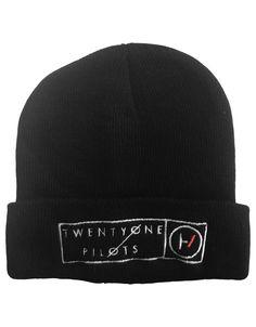 9f4b6aa1052 21 Twenty One Pilots Beanie Hat Clique Band Logo Black