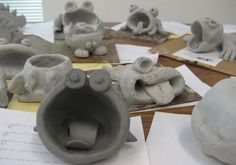 The kids LOVED this project - Pinch Pot Creatures - Middle School